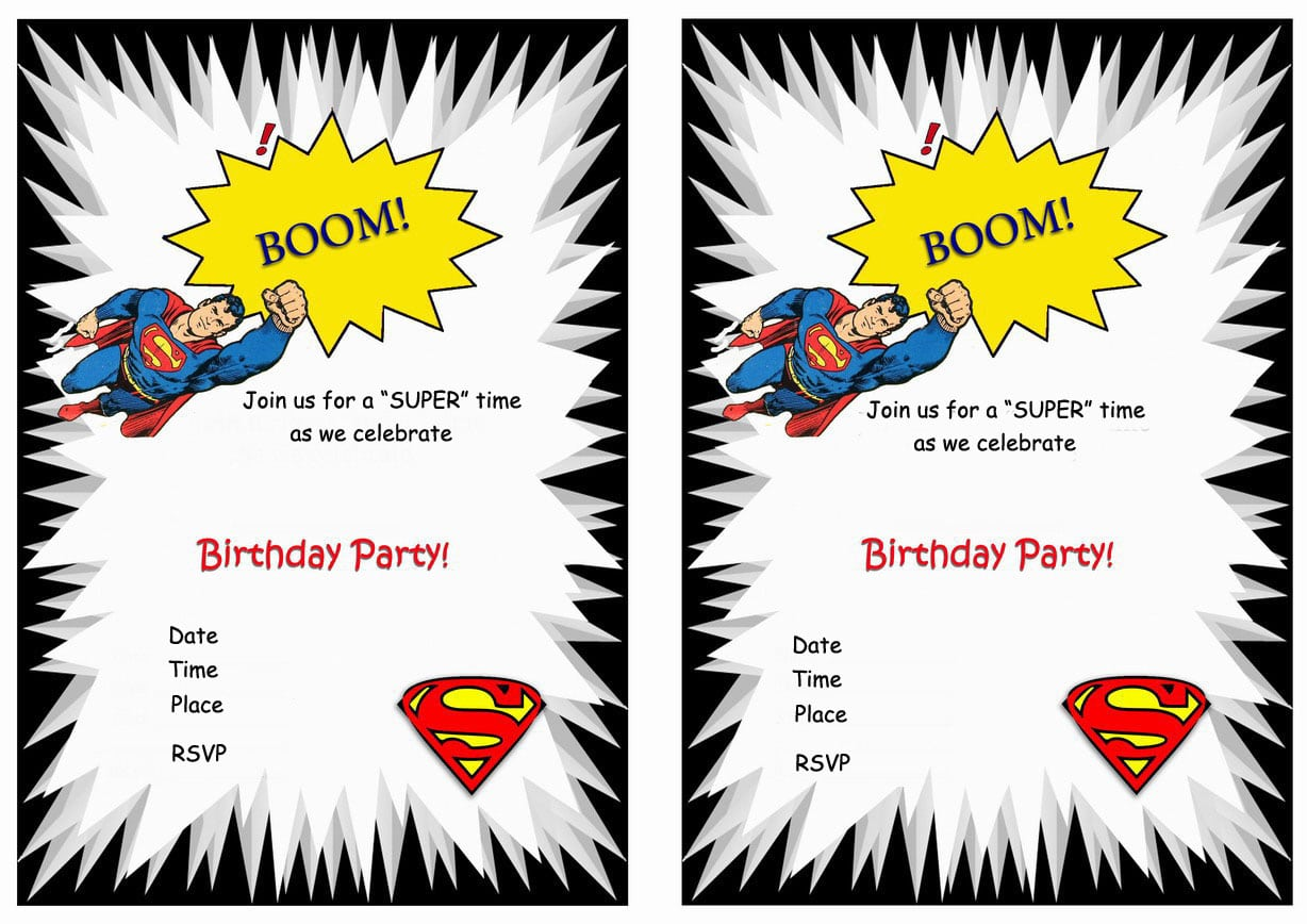 Superman Birthday Invitations – Birthday Printable